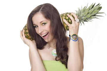 cuffie con ananas