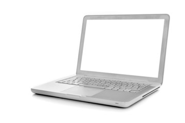 Laptop isolated on white, clipping path included