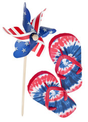 Patriotic Pinwheel and Flip Flop Sandals