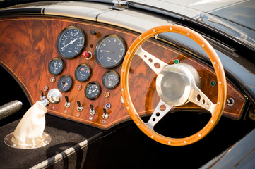 Wall Mural - quality interior of a beautifully restored retro sports car
