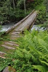 Brücke über einen Bergbach