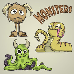 Garden Poster Creatures Monsters