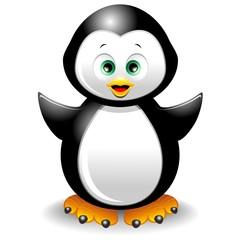 Pinguino Cucciolo Cartoon-Cute Penguin-Vector