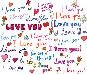 I love you! set