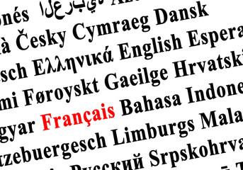 langues du monde - français