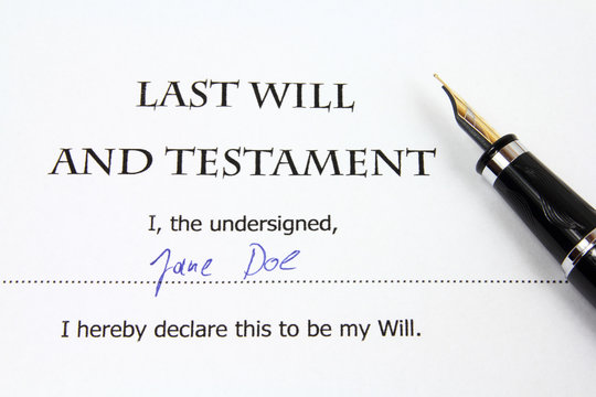 Will - legal document and fake signature