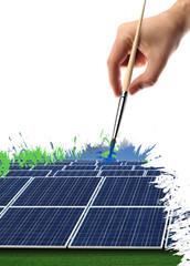pennellata di pannelli fotovoltaici
