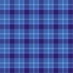 Blue Colored Tartan Seamless Pattern