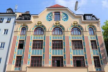 Wall Mural - München Jugendstilhaus