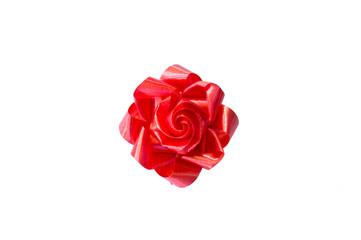 Red ribbon flower