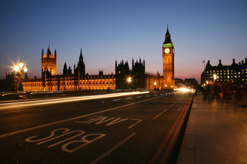 Fototapete - Westminster, London Night View