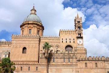 Garden Poster Palermo Palermo cathedral church