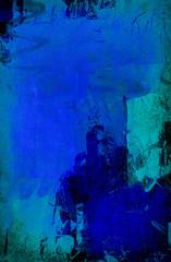 major blue mixed media