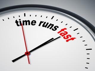 time runs fast