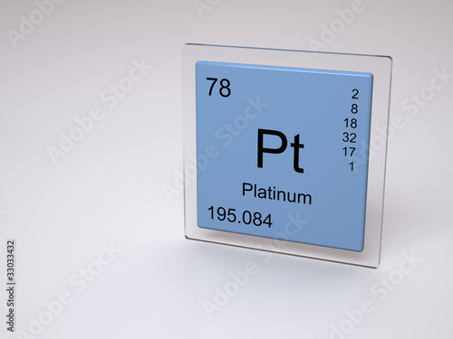 Platinum Symbol Pt Chemical Element Of The Periodic Table Stock