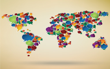 social network around the world