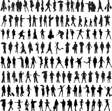 Common people silhouette