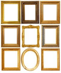 Luxury gilded frames