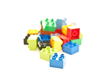 colored cube play blocks