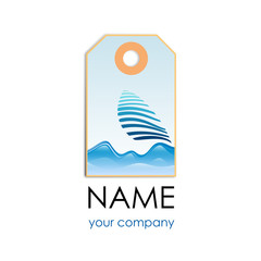 Label Logo sailing # Vector