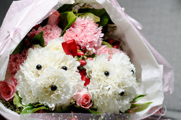 Bouquet of Poodle Carnation