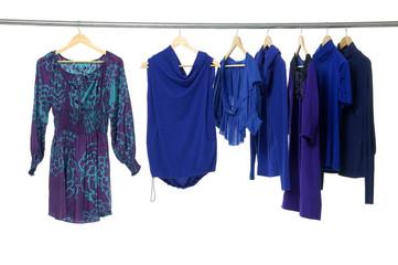 fashion clothing on hangers