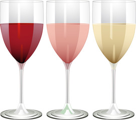red rose and white wine in glasses