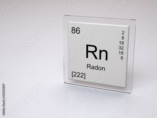 Radon Symbol Rn Chemical Element Of The Periodic Table Stock