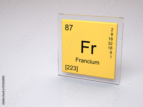 Francium symbol fr chemical element of the periodic table francium symbol fr chemical element of the periodic table urtaz Gallery