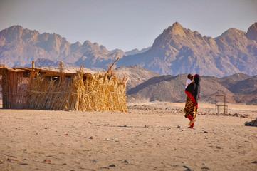 Bedouins in the desert in Egypt