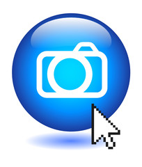 PHOTOS Web Button (view pictures art gallery photography camera)