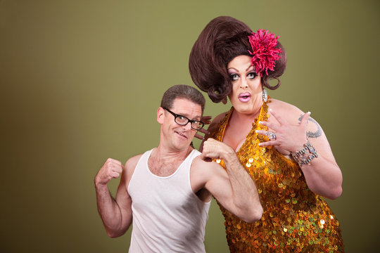 Man With Drag Queen