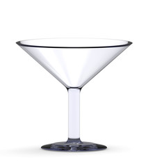 Empty cocktail glass isolated on the white