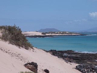 Küstenlandschaft auf Fuerteventura, kanarische Inseln