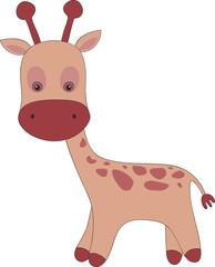 Cute hand drawn giraffe