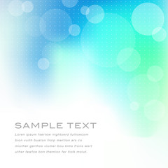 Abstract blue green background with translucent circles and dots