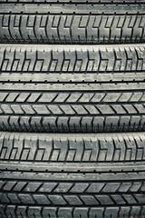high contrast heavy duty vehicle tires closeup