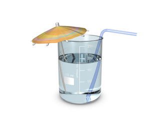 A beaker of cocktail