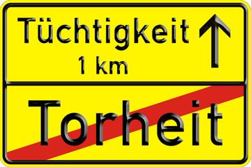 Ortsschild, Verkehrszeichen nach StVO