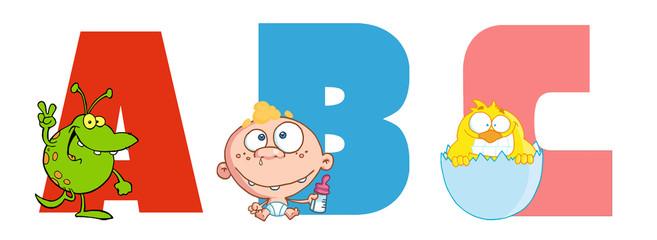 ABC Joyful Cartoon Alphabet