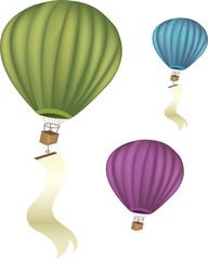 Vector hot air balloons