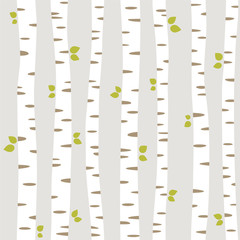 seamless pattern with summer forest
