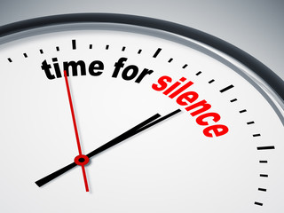time for silence