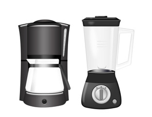 coffee machine and blender