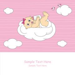 Bebé sobre una nube