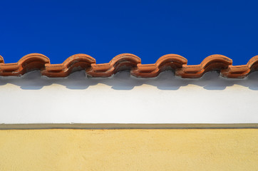 Traditional mediterranean roof line