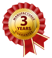 button 3 years manufacturer guarantee