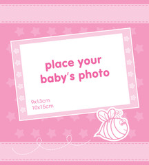 Template frame design for baby photo