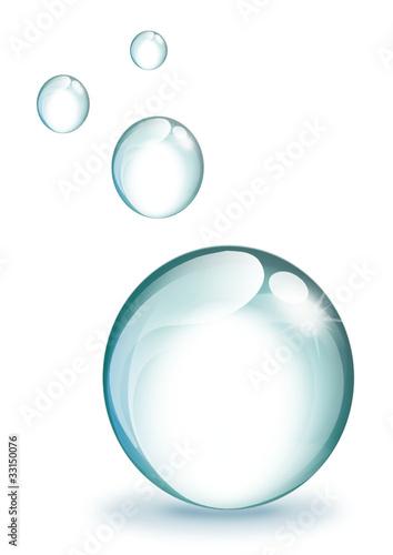 Bulles d 39 eau fichier vectoriel libre de droits sur la banque - Stickers bulles d eau ...