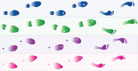 Shoes-Foot print